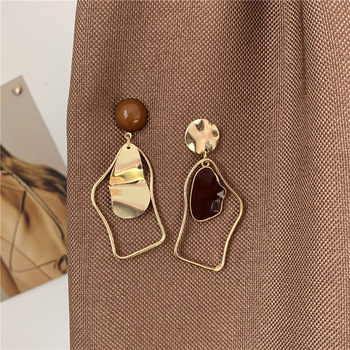 Shamir Irregular Geometry Statement Earrings Drip Asymmetry Simple Stud earrings Fashion Jewelry, Wedding Accessories image