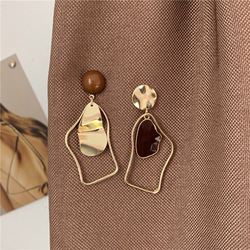 Shamir Irregular Geometry Statement Earrings Drip Asymmetry Simple Stud earrings Fashion Jewelry, Wedding Accessories