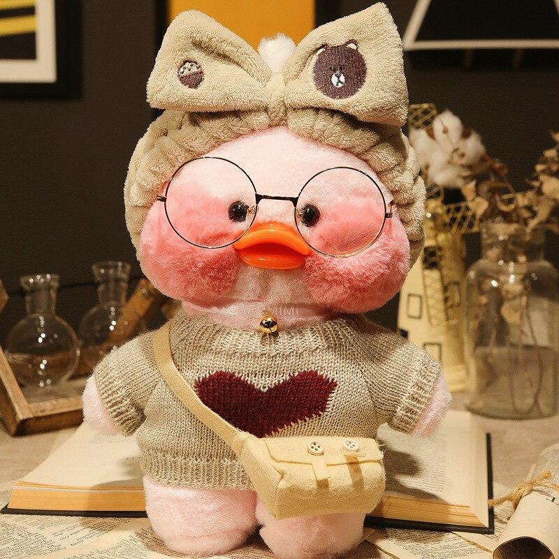 30cm Korean Netred Wearing Hyaluronic Acid Little Yellow Duck Doll Ducks Lalafanfan Ducks Plush Soft Toys Ducks Doll Birthday Gi