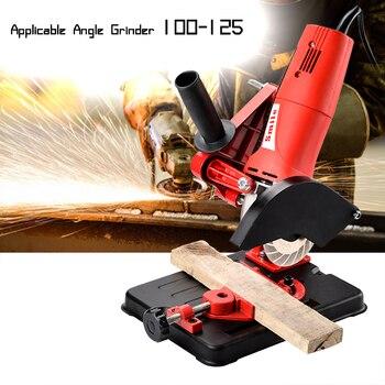Soporte para lijadora en ángulo amoladora soporte para 100-125 amoladora angular de corte Base de hierro fundido accesorio de herramienta eléctrica