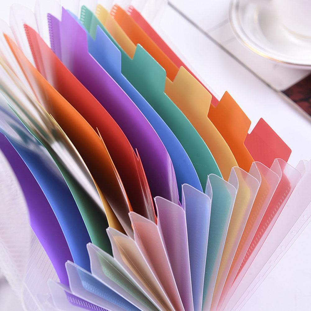 Vividcraft A6 Rainbow Expanding File Folder Organizer Layer Document 13 Supplies Office Fichario Wallet Stationery Organize L1B2