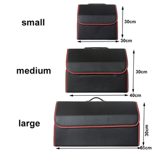 Image 3 - Car Storage Bag PU Leather Trunk Folding Car Storage Stowing Tidying Auto Trunk Box Organizer Car Accessories