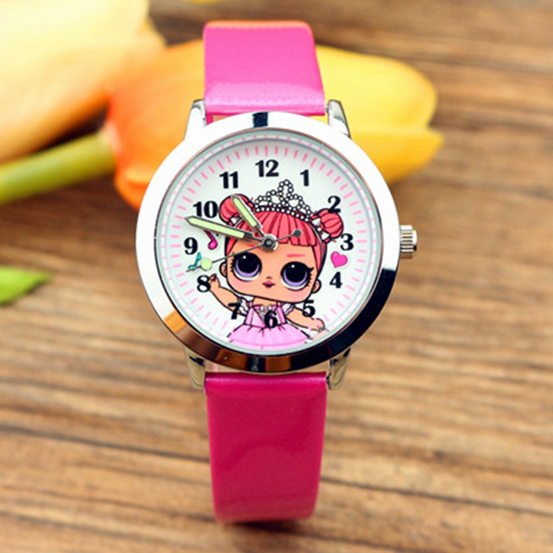 LOL Girls Children Wrist Watches Kids Student Pretty Lass Style Quartz Watches Leather Birthday Gift Lol Watch
