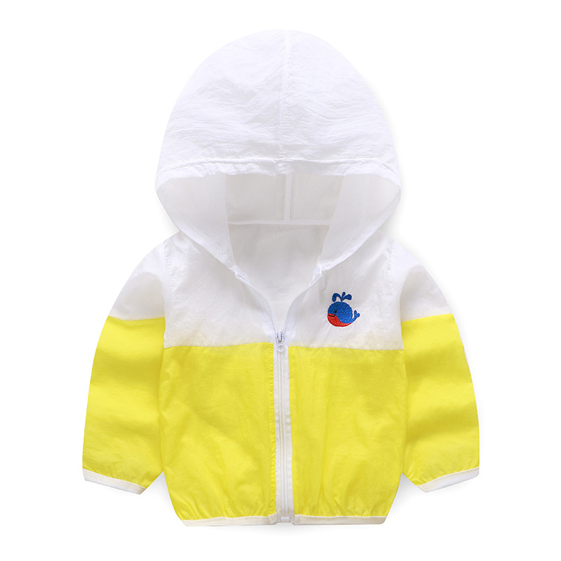 Summer Windbreaker for Boy Baby Jacket Kids UV Protection Clothes Hooded Children's Sun Clothing Girls Sea Beach Blouse Outwear-4