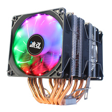 Fan 12v Cpu cooler 4Pin led rgb pwm 90mm 6 Pure copper tube For Intel 1356 1366 1150 1151 1155 1156 And Am4 Am3+ Am2 heat sink