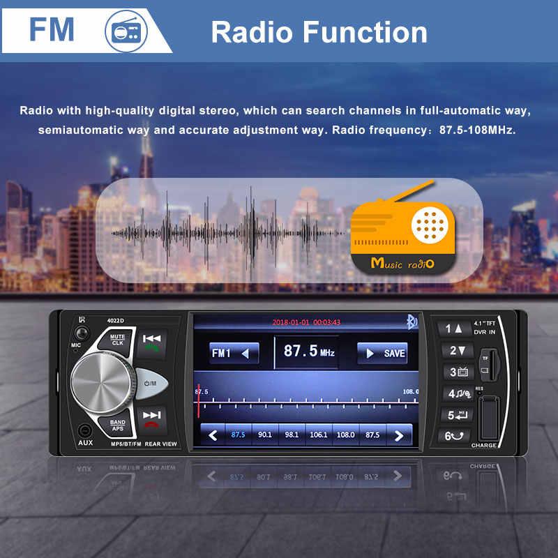 Autoradio 1 الدين بلوتوث راديو SD MP5 لاعب Coche مسجل راديو السيارة استريو Poste الفقرة أوتو teypleri سيارة براديو تلقائي لاعب