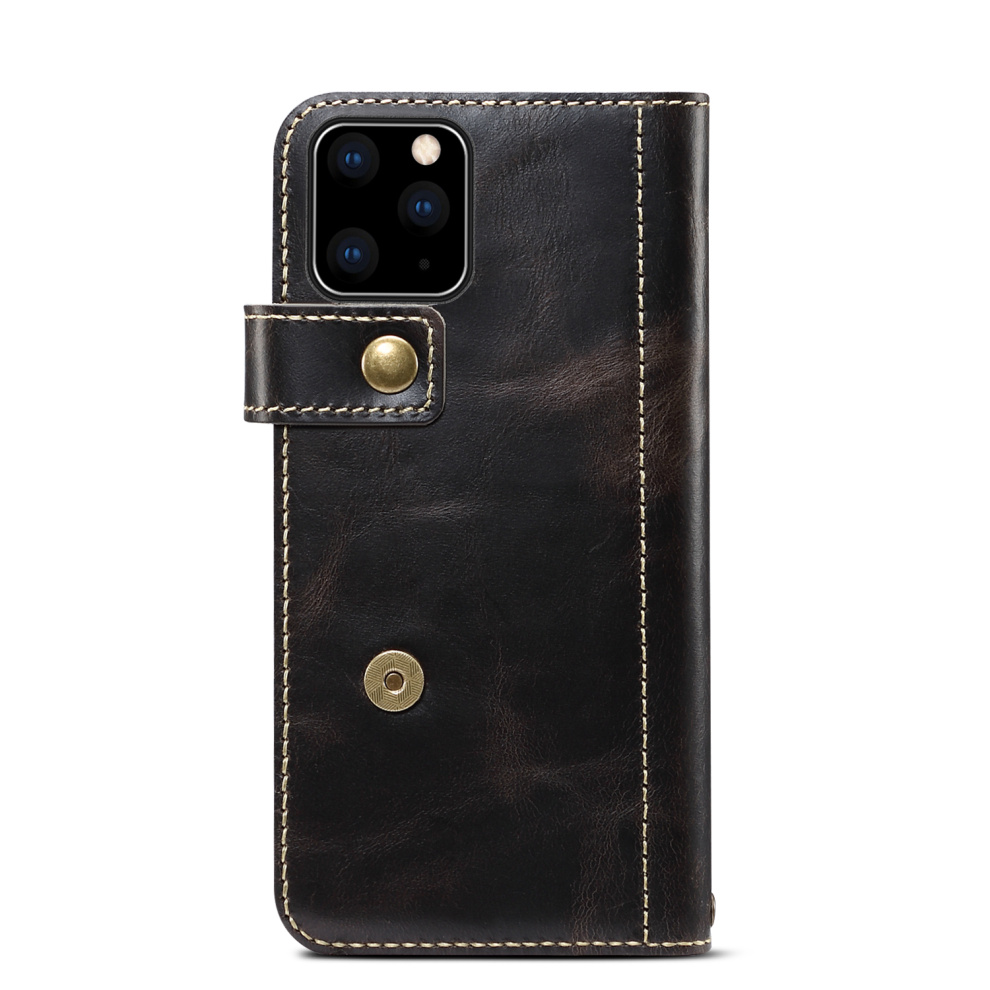 Premium Leather Magnet Button Flip Strap Case for iPhone 11/11 Pro/11 Pro Max 53