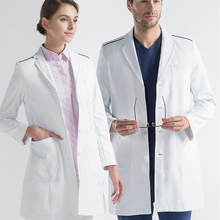 Белое платье оральная ветеринарная больница пластической хирургии и красоты больница рабочая одежда для мужчин и женщин с длинным рукавом доктор Одежда