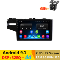 10.1 2.5D IPS Screen Android 9.1 Car DVD Player GPS For Honda Fit 2014 2015 2016 audio radio stereo navigator bluetooth wifi