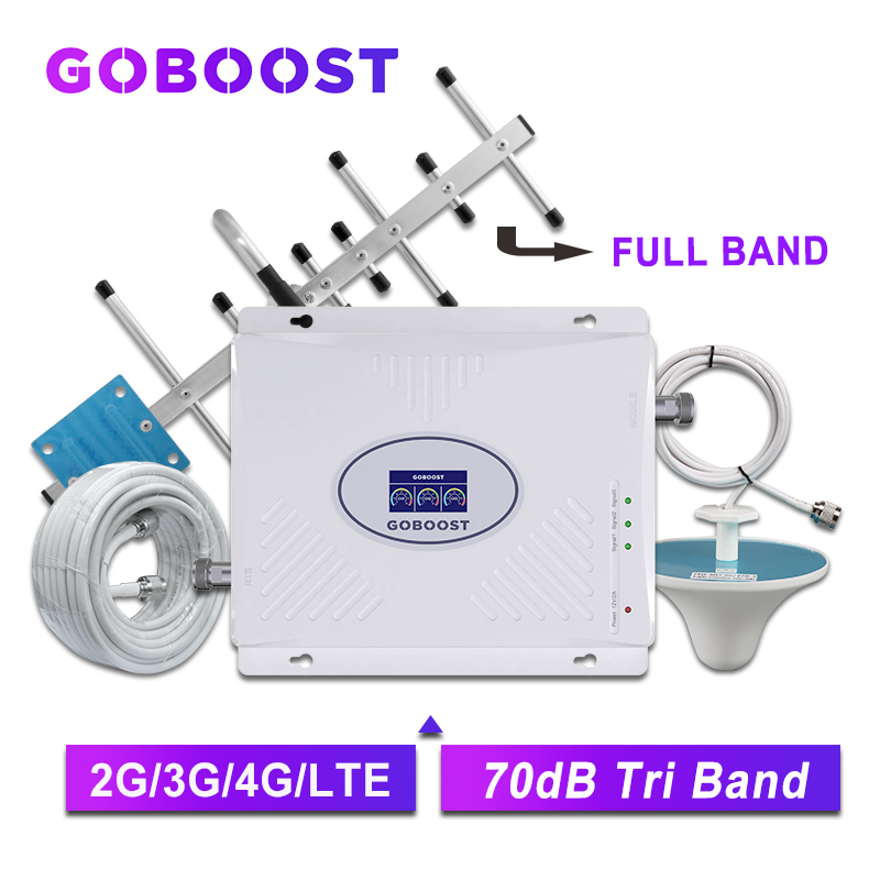GOBOOST Cellular Amlifier 4g Signal Booster Cell Phone 2g 3g 4g Mobile Repeater Gsm 900 1800 2100 Amplifier Lte 2600 Booster Kit