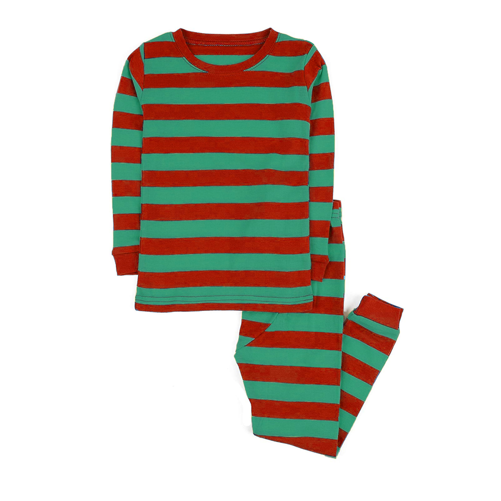 100% cotton boys and girls Christmas stripe pajamas kids sleepwear children pyjamas clothes 4