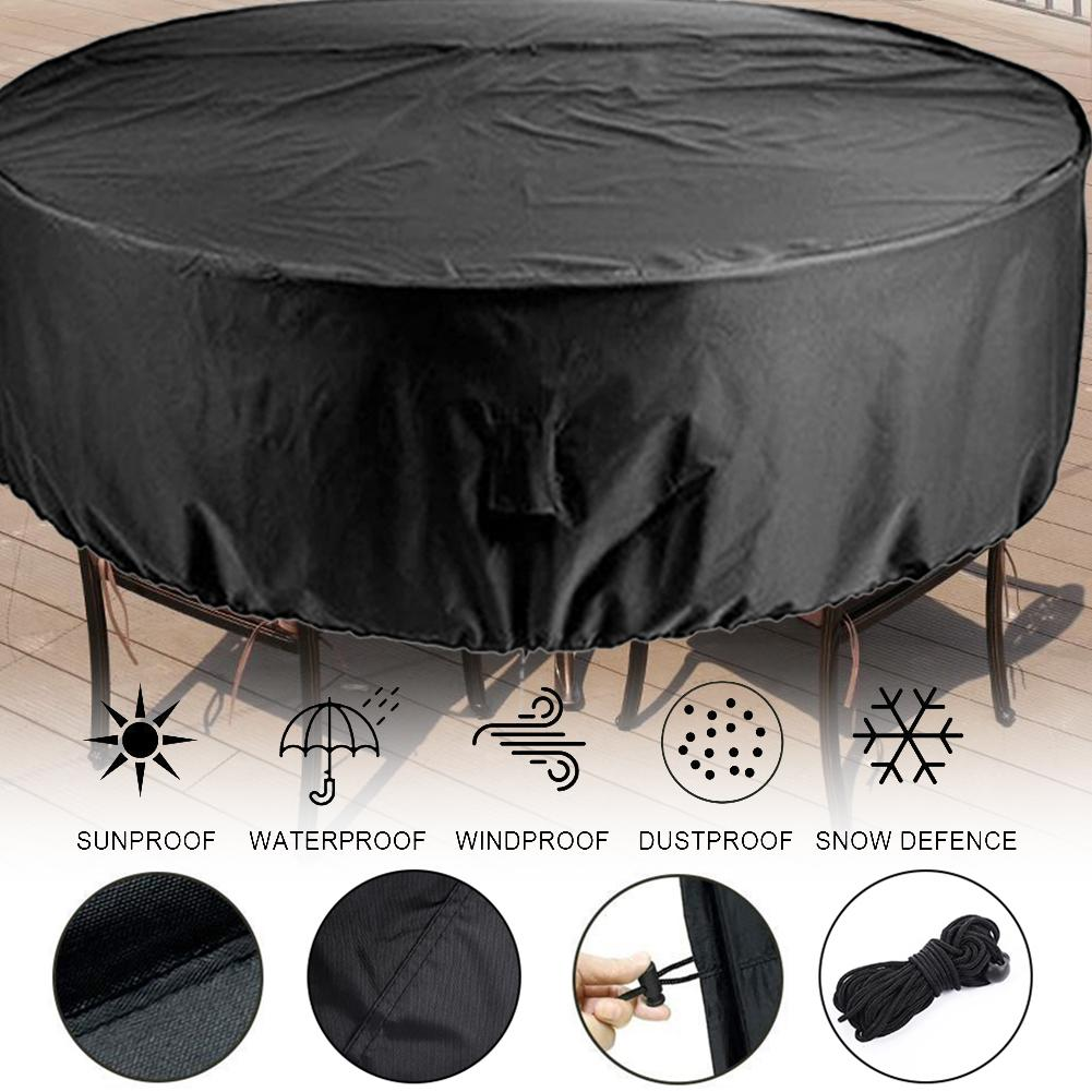 6Sizes Waterproof Outdoor Round Furniture Cover Patio Garden Furniture Rain Snow Protect Covers For Sofa Table Chair Dust Proof4
