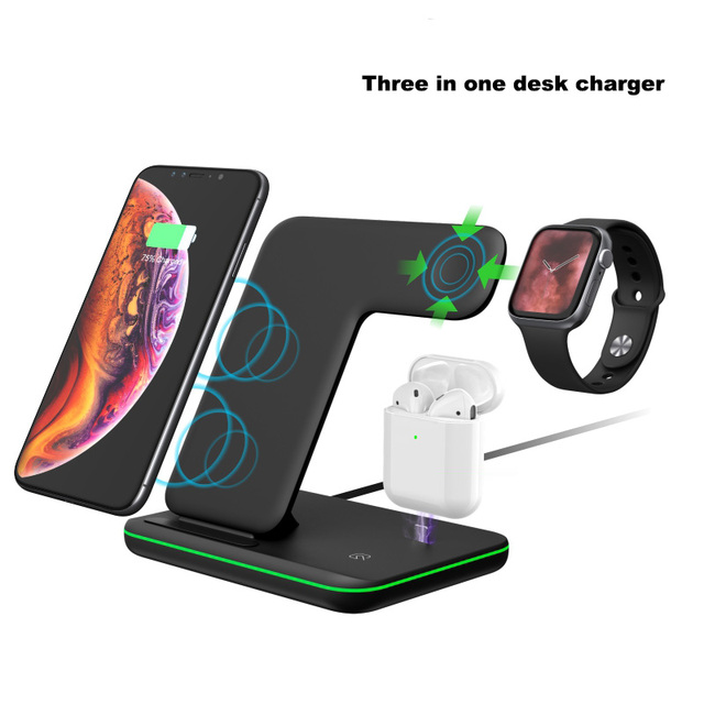 Charging Dock Holder For Iphone XS max 11 Pro max Iphone 8 Plus Silicone charging stand Dock Station For Apple iwatch Airpods