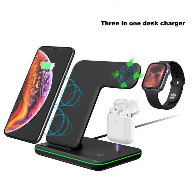 Зарядная док станция для Iphone XS max 11 Pro max Iphone 8 Plus силиконовая подставка для зарядки док станция для Apple iwatch Airpods