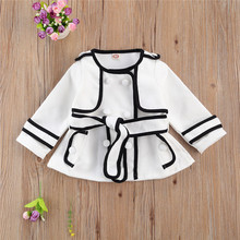 Coat Jacket Snow-Wear Bebe Baby-Girls Winter Cashmere Manteau Sweet-Belt Fille Woolen