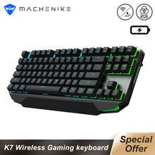 Machenike K7 klawiatura mechaniczna klawiatura bezprzewodowa 87 klawiszy klawiatura do gier Bluetooth 3.0 czarny przełącznik niebieski przełącznik klawiatura