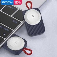 Cargador inalámbrico magnético para Apple Watch Series 5 4 3, 100% portátil ROCK Qi, base de carga USB 2,5 W para iWatch 애애전전