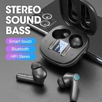 Auricolare senza fili Bluetooth 5.0 cuffie Display a LED con microfono Hifi Stereo Sport auricolari auricolari bassi per smartphone