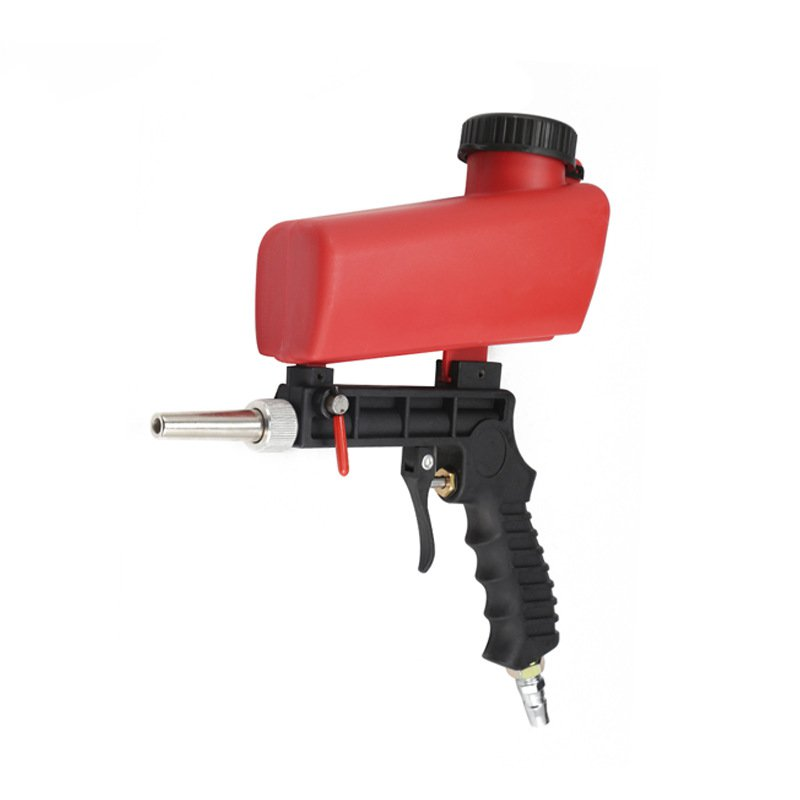 Pneumatic Sandblasting Gun Handheld Portable Adjustable Flow Non-slip Handle 21ml Mechanical Maintenance Air Sandblasting Gun