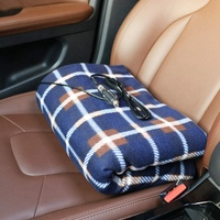 12V Electric Heated Car Blanket  Soft Thick Travel Temperature Heating Blanket for Cars Trucks SUV RV  Quickly Heat Range From 1|Electric Blankets| |  -