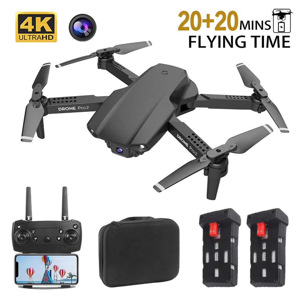 Drone RC 4K HD Foldable Quadcopter Mini Drone FPV 50x Zoom Camera Kids Adult Gift Auto Fixed- Height Hover Real Time Image Drone