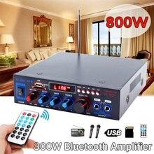 Amplificadores para el hogar de 800W, amplificador de Audio bluetooth, Subwoofer, potente amplificador Digital para el coche, soporte de Audio, función de reverberación USB SD FM