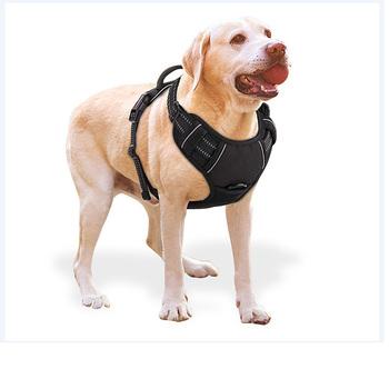 Szelki dla psa regulowany Nylon bez ściągania zewnętrzna kamizelka Oxford odblaskowa obroża dla zwierząt akcesoria dla małych średnich duży pies tanie i dobre opinie Uprzęże Poliester mieszanki Wiosna Stałe Odblaskowe
