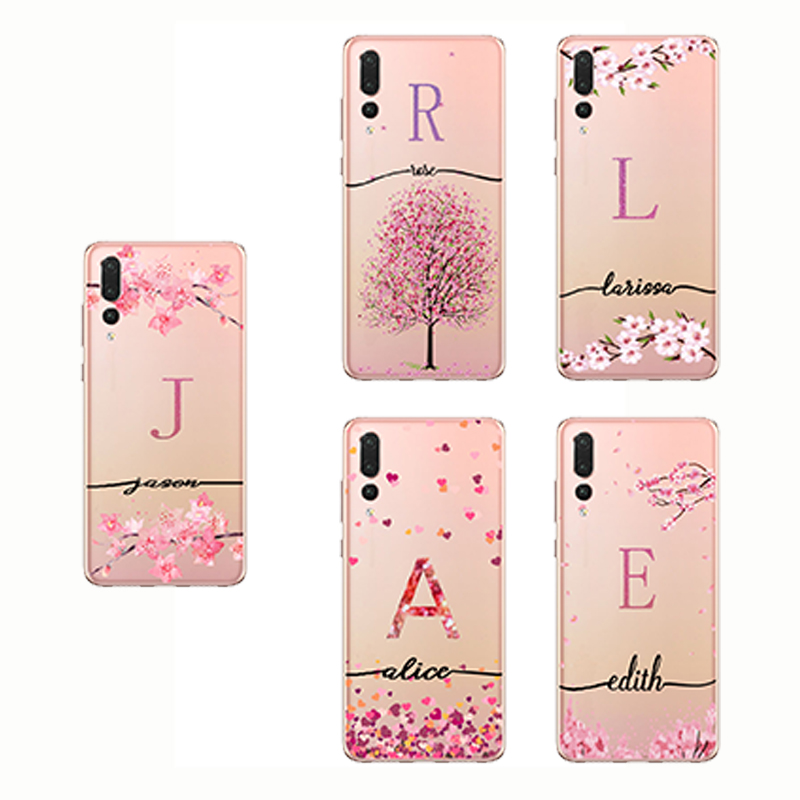 DIY Name Custom Design <font><b>text</b></font> Druck Fall Abdeckung Für <font><b>iPhone</b></font> se <font><b>6s</b></font> 7 8 Plus XS MAX für S9 s10 plus A9 pro Für Huawei P20 P30 Pro Mate image