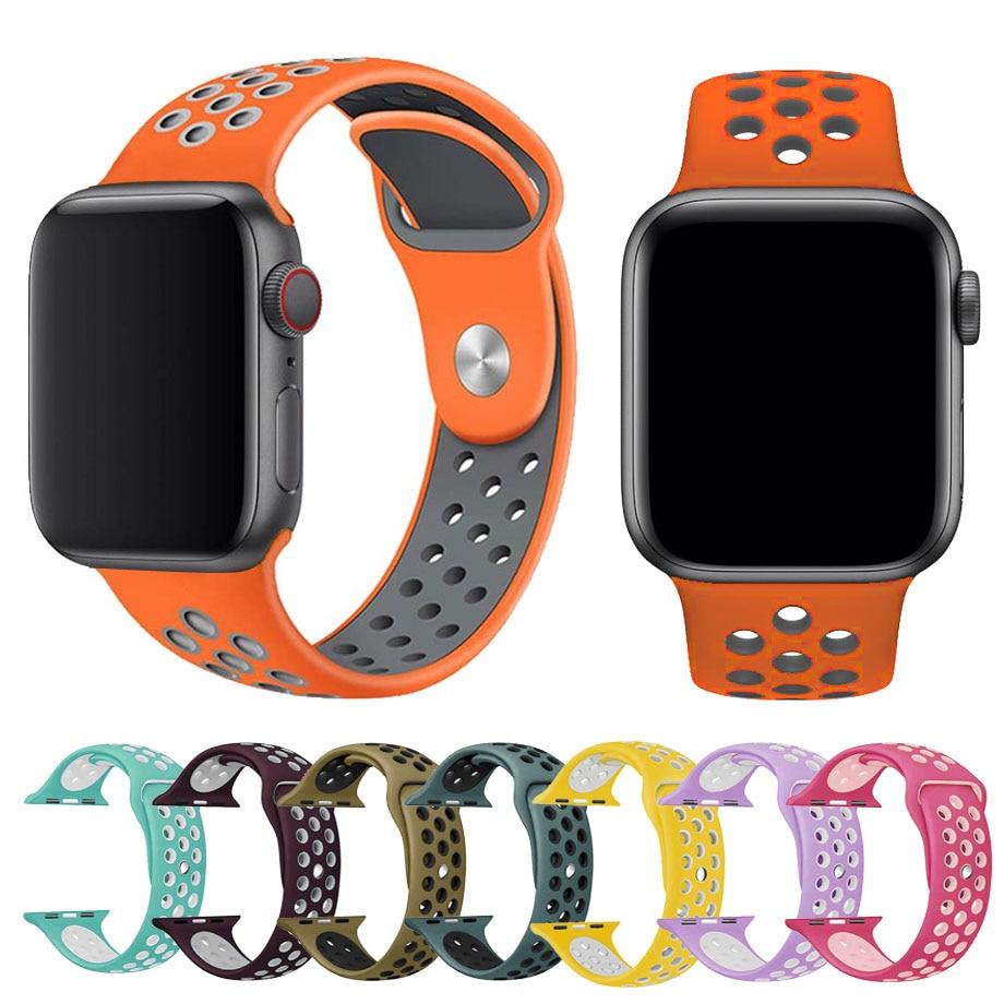 Banda de silicona para apple watch correa 42mm 38mm reemplazar - Accesorios para relojes - foto 4