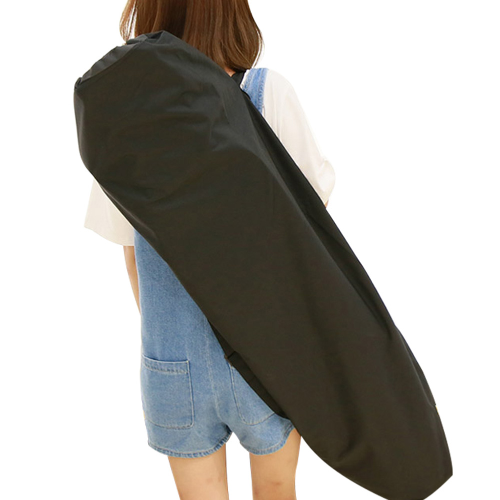 Single Shoulder Oxford Cloth Travel Longboard Backpack Accessories Waterproof Storage Skateboard Bag Black Protection Thickened