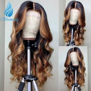 13*6 Омбре кружевные передние парики 150% DensityMiddle соотношение перуанские Remy человеческие волосы парики для волос для малышей яркие цвета бескл...