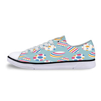 Happy Easter Cartoon Eggs Colorful Unisex Canvas Shoes For Men Classic Flats Canvas Shoes Teen Boys Studnets Low Top Sneakers