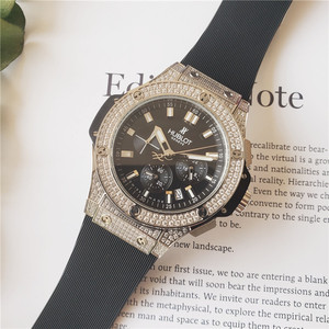 HUBLOT Роскошные брендовые кварцевые мужские часы, кварцевые часы с ремешком из нержавеющей стали, мужские наручные часы, классические деловы...