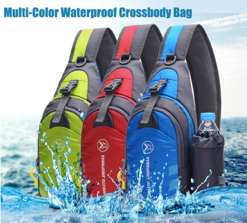 2020 Men Women Nylon Sling Bag Crossbody Shoulder Chest Cycle Daily Travel Outdoor Sports Messenger Bag