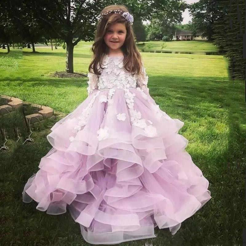 Gardenwed Einfache Puffy Madchen Prinzessin Kleid Tull Kinder Kommunion Kleid Organza Rock Baby Hochzeit Kleid Madchen Kleid Fur Hochzeiten Blumenmadchen Kleider Aliexpress
