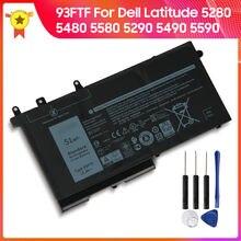 Оригинальный аккумулятор 93ftf для dell latitude 5280 5480 5580