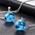 Ожерелье женское из прозрачной смолы, подвеска в виде шара, Луны, голубого неба, орла, цепочка, бижутерия, хороший подарок для девушки