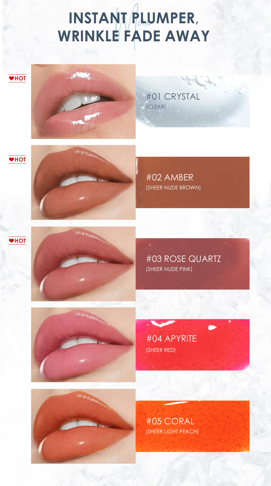 FOCALLURE High Shine Lip Gloss PLUMPMAX Nourish Soft & Smooth Lip Makeup non-Sticky formula Lipgloss