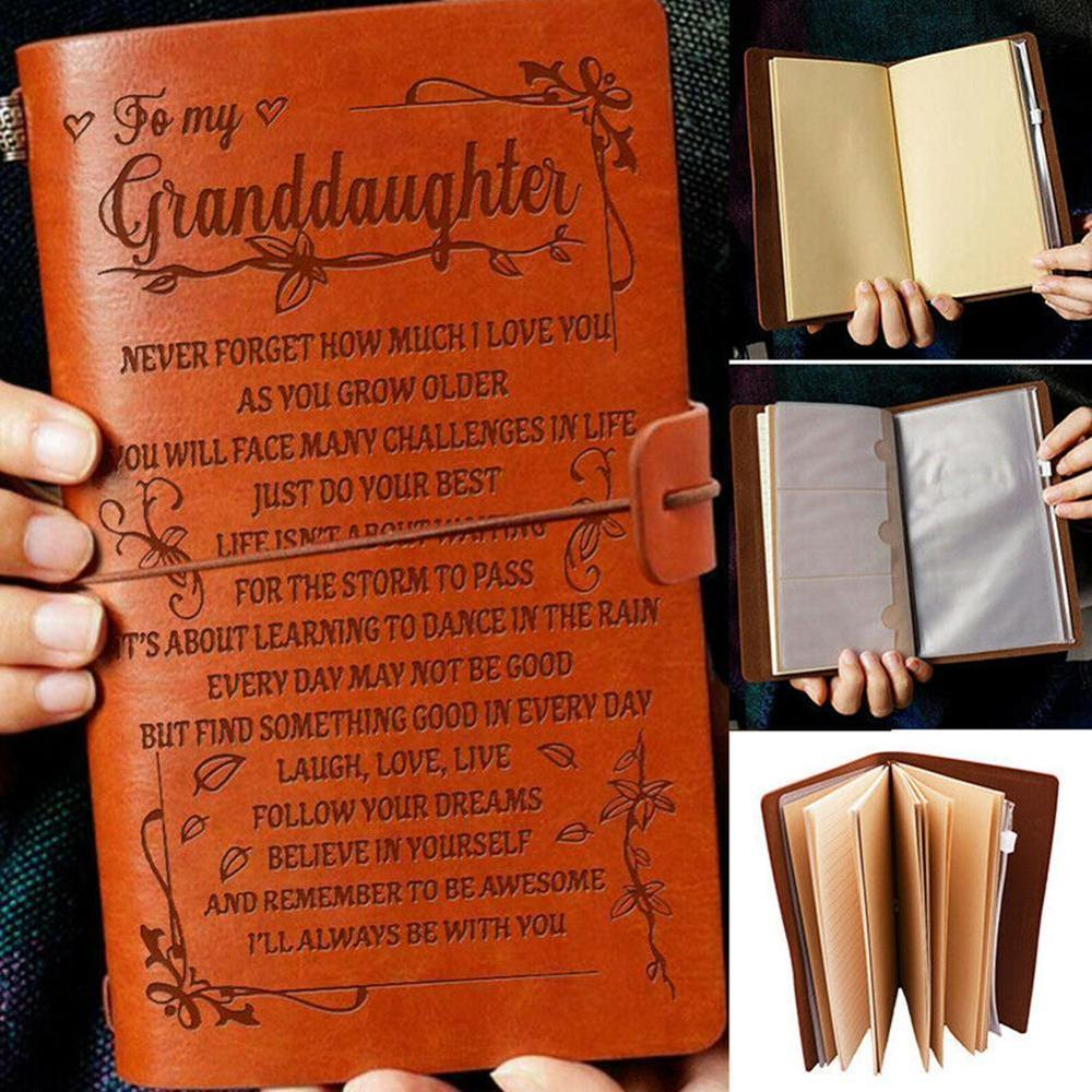A6 Engraved Leather Journal Notebook Travel Diary To Daughter Engraved Notebook Diary 20x12cm
