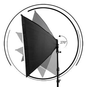 Image 5 - Fotoğraf Softbox aydınlatma kiti 8 adet E27 45W LED ampuller fotoğraf stüdyo ışığı ekipmanları ışık kutusu Youtube Video