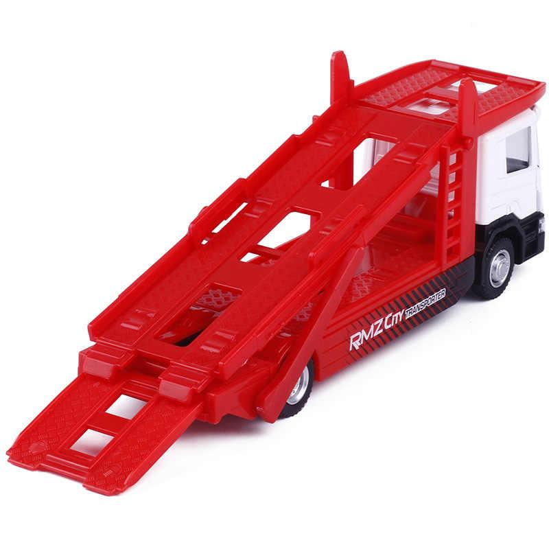 1/64 Alloy Carsรุ่นSemi Trailer Carrierของเล่นโลหะDie Castรถวิศวกรรมของเล่นเด็ก
