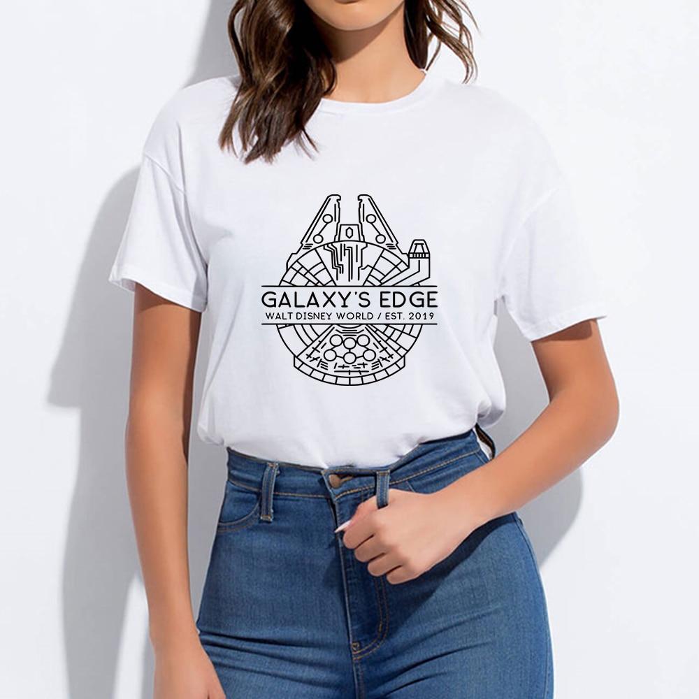 Galaxy's Edge Walt Disney World T-shirt Round Collar Cheap Hipster Spring Summer Mandalorian Harajuku Tshirt Graphic T Shirt
