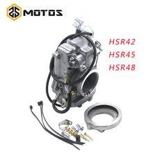 Zs motos hsr42 mikuni 42/45/48mm desempenho da bomba de acelerador carburador TM42-6 42-18 harley evo twin cam para 4 t