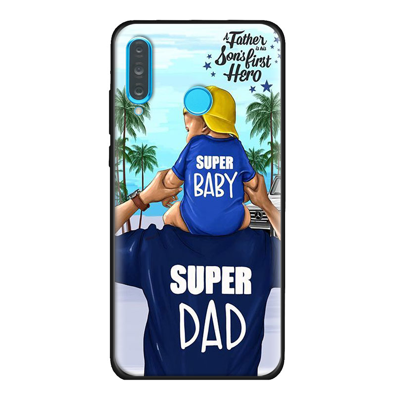 Beautiful Mother Lovely Daughter Son Soft Case For Huawei P20 P30 P40 Pro+ P10 P20 P30 P40 Lite P Smart Z Pro TPU Cover Capa