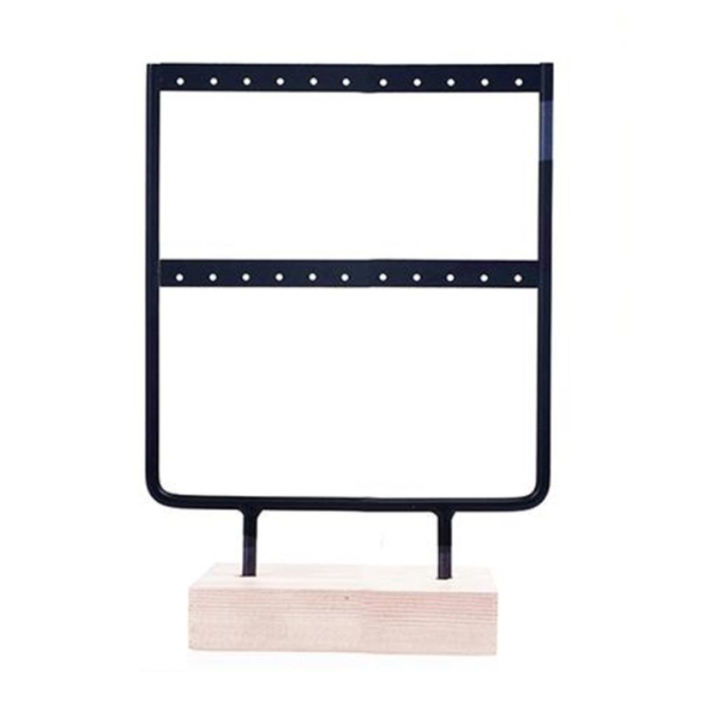 Practical 24/44 Holes 2 Layers Earrings Ear Stud Organize Rack Jewelry Display Stand Jewelry Display Stand Creative Jewelry Rack