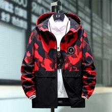 Além de 10XL 9XL 8XL 7XL Mens Jacket High Street Primavera Homens Jaquetas de Camuflagem Moda Blusão de Algodão Casaco Masculino Capô Hip hop