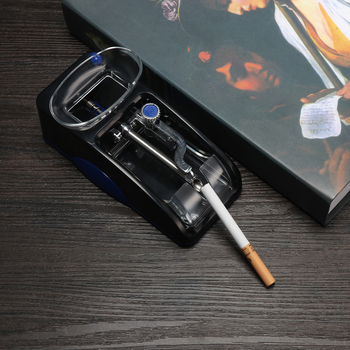 Ue wtyczka elektryczna łatwa automatyczna maszyna do zwijania papierosów automatyczna maszynka do papierosów maker Roller Drop narzędzie do palenia przenośne tanie i dobre opinie CN (pochodzenie) Metal Other Cigarette Rolling Machine EU plug 110-230V 305g 10 8oz 50 60Hz 0 3A
