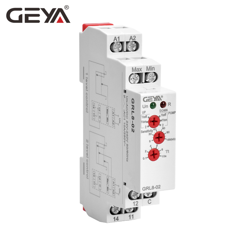 Frete grátis geya grl8 controlador de nível água líquido relé 10a ac dc 24 v 220 v ampla gama tensão da bomba água relé