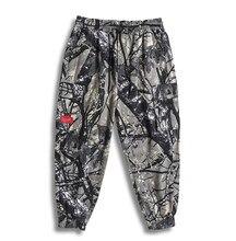 Pantalon Cargo en coton pour hommes, poches Hip Hop avec rubans, style Harajuku décontracté, sarouel, joggeurs, 7XL 6XL 5XL XXXXL
