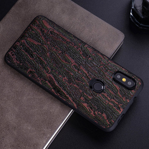Image 5 - Cowhide Phone Case For Xiaomi Redmi Note 5 6 6a 7 7a 8 Pro For Mi 8 9 se 9T A1 A2 A3 lite Y3 Poco F1 Mix 2s 3 Bark texture Cover